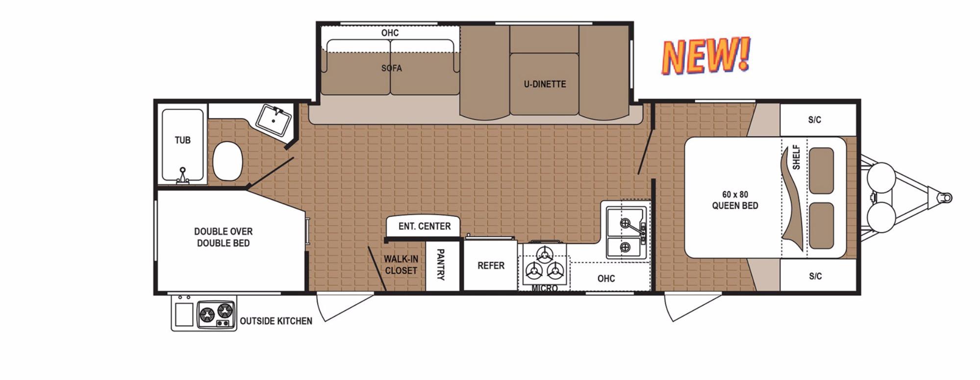 View Floor Plan for 2018 DUTCHMEN ASPEN TRAIL 2790BHS