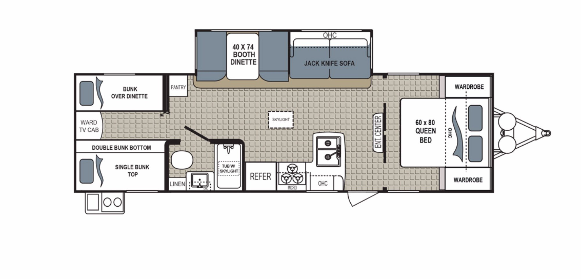 View Floor Plan for 2018 DUTCHMEN KODIAK 283BHSL