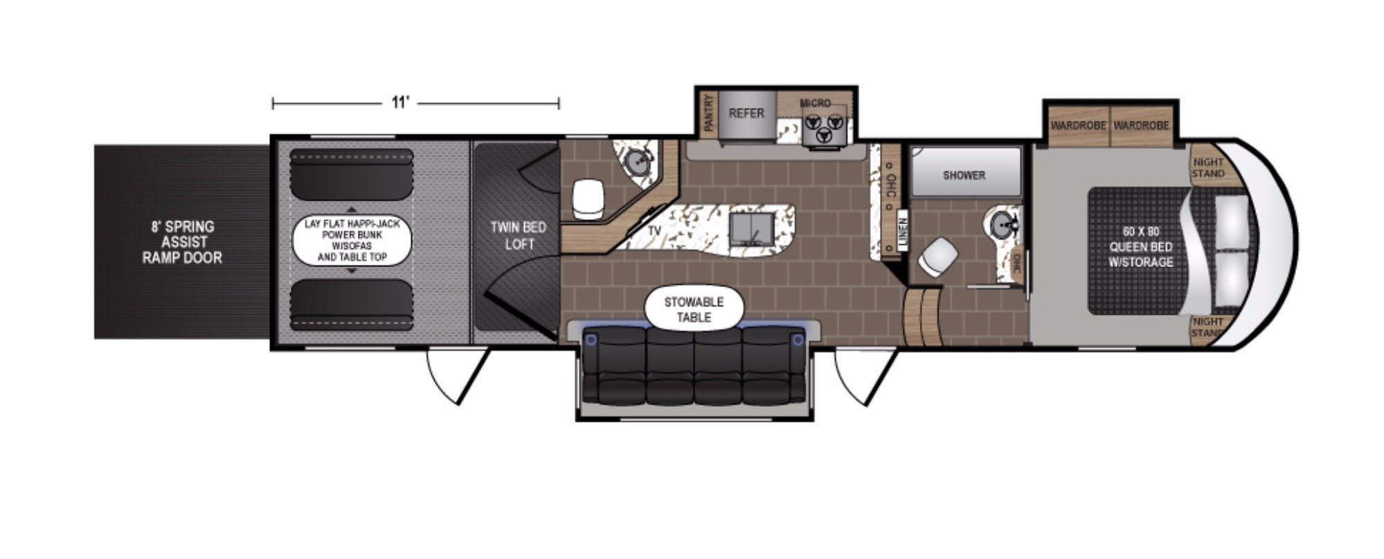 View Floor Plan for 2018 DUTCHMEN ENDURANCE 3556