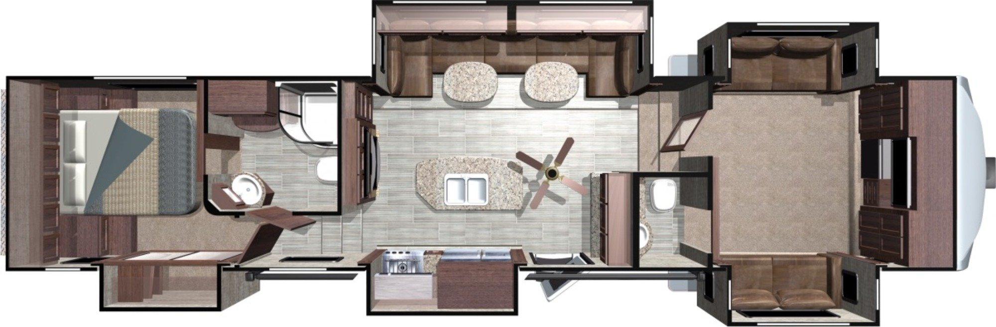 View Floor Plan for 2018 HIGHLAND RIDGE MESA RIDGE 376FBH