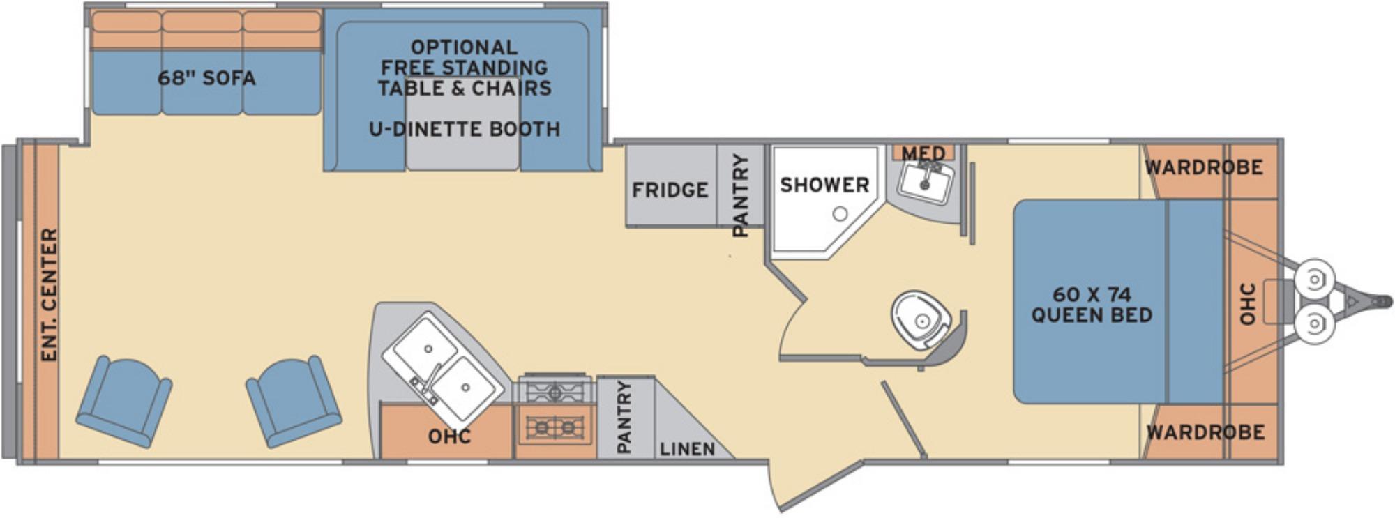 View Floor Plan for 2018 SHASTA REVERE 31RE