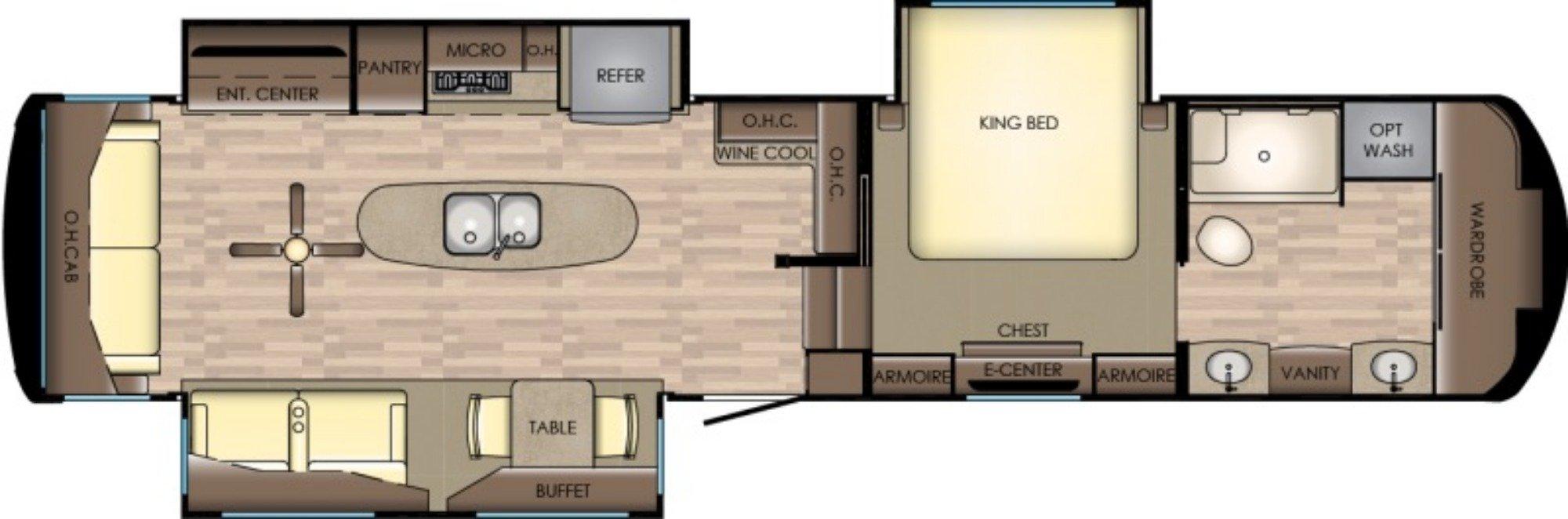 View Floor Plan for 2018 CROSSROADS REDWOOD 3901WB