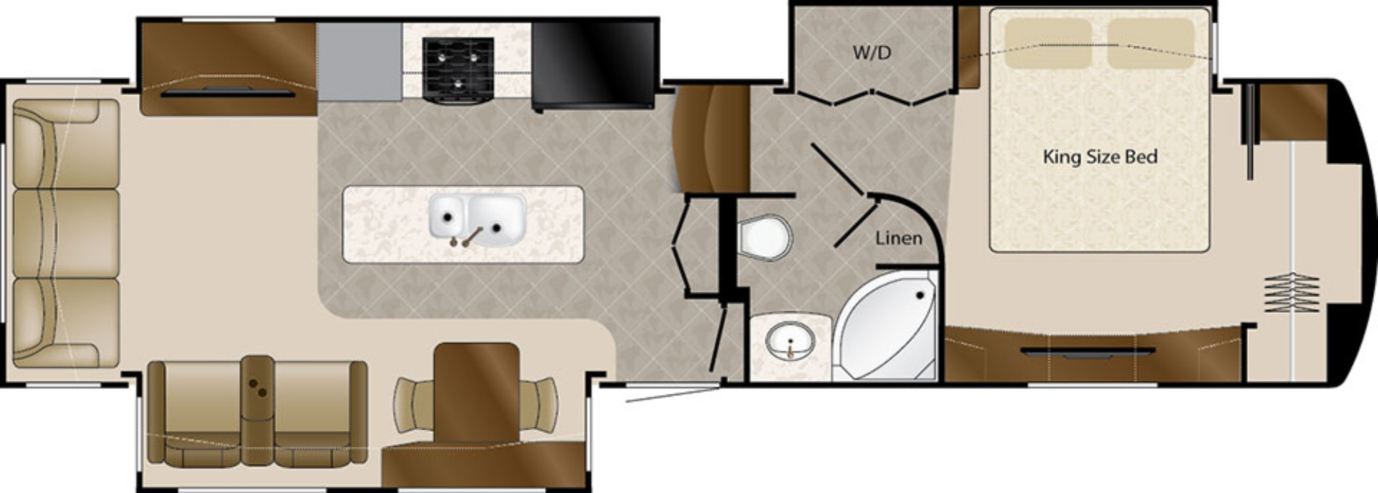 View Floor Plan for 2018 DRV LUXURY SUITES MOBILE SUITES 36RSSB3