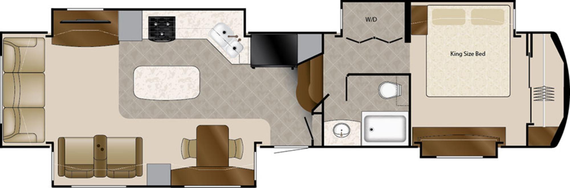 View Floor Plan for 2018 DRV LUXURY SUITES MOBILE SUITES 40KSSB4