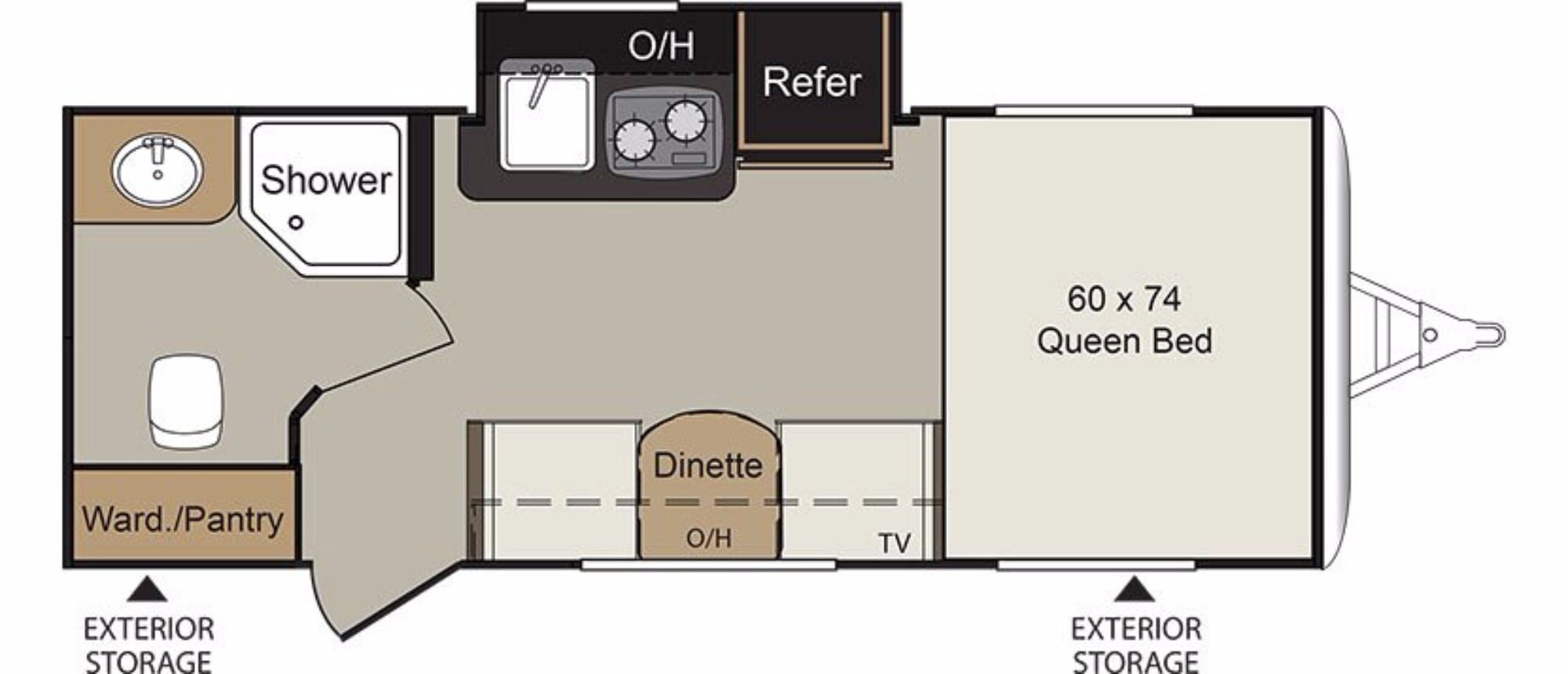Floor Plan : 2018-KEYSTONE-173RB