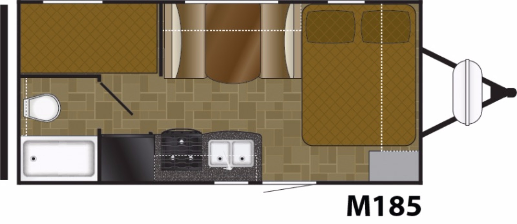 View Floor Plan for 2018 HEARTLAND MALLARD IDM185