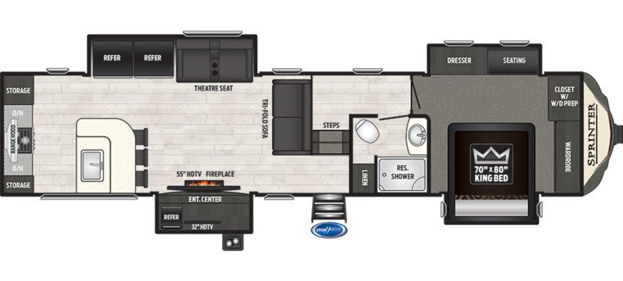 Garage : 2018-KEYSTONE-3550FWMLS