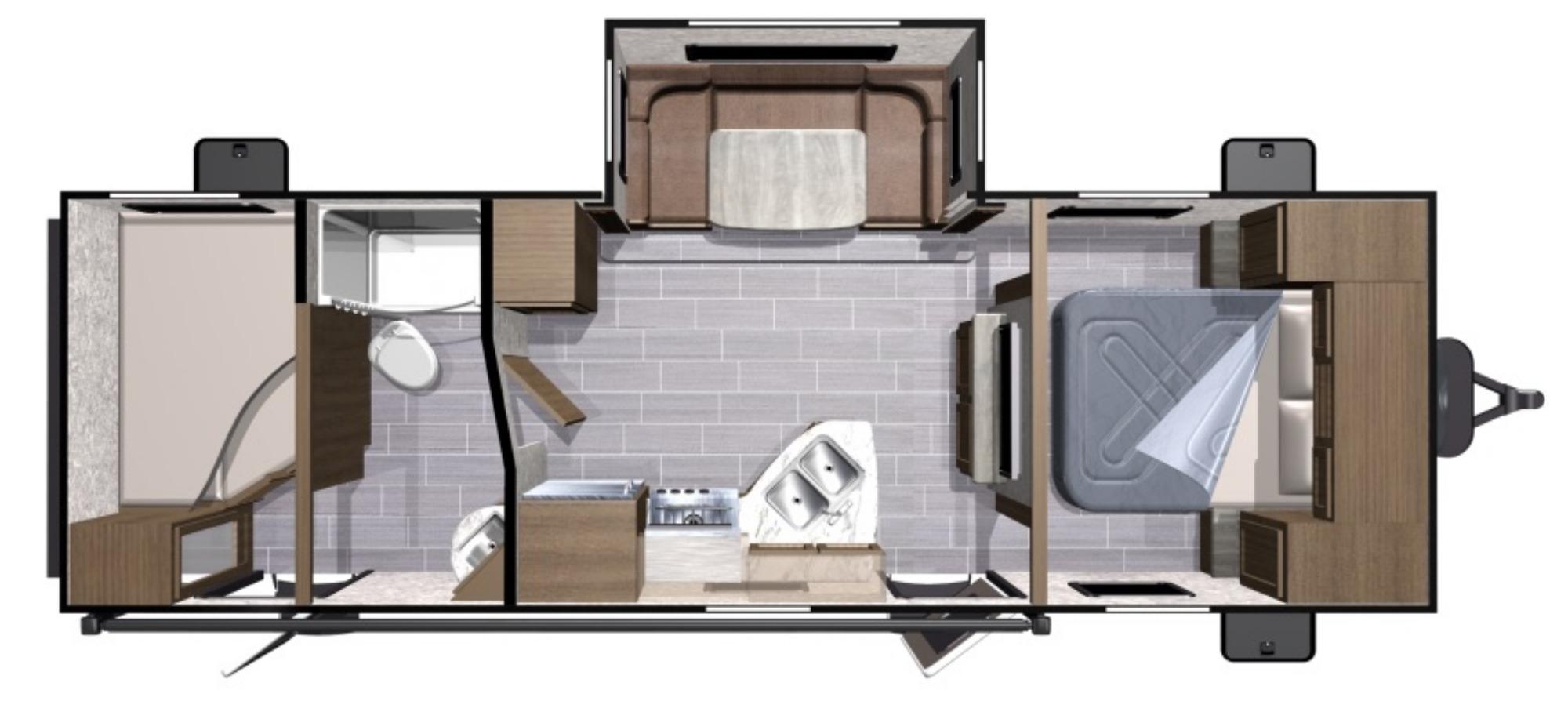 View Floor Plan for 2018 HIGHLAND RIDGE OPEN RANGE ULTRA LITE 2510BH