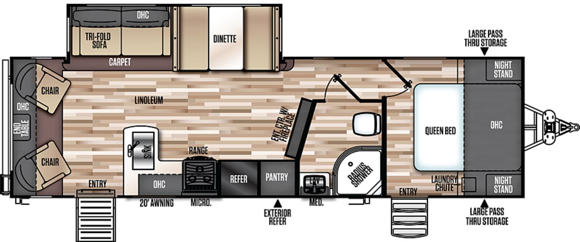 Bedroom : 2018-FOREST RIVER-269RL