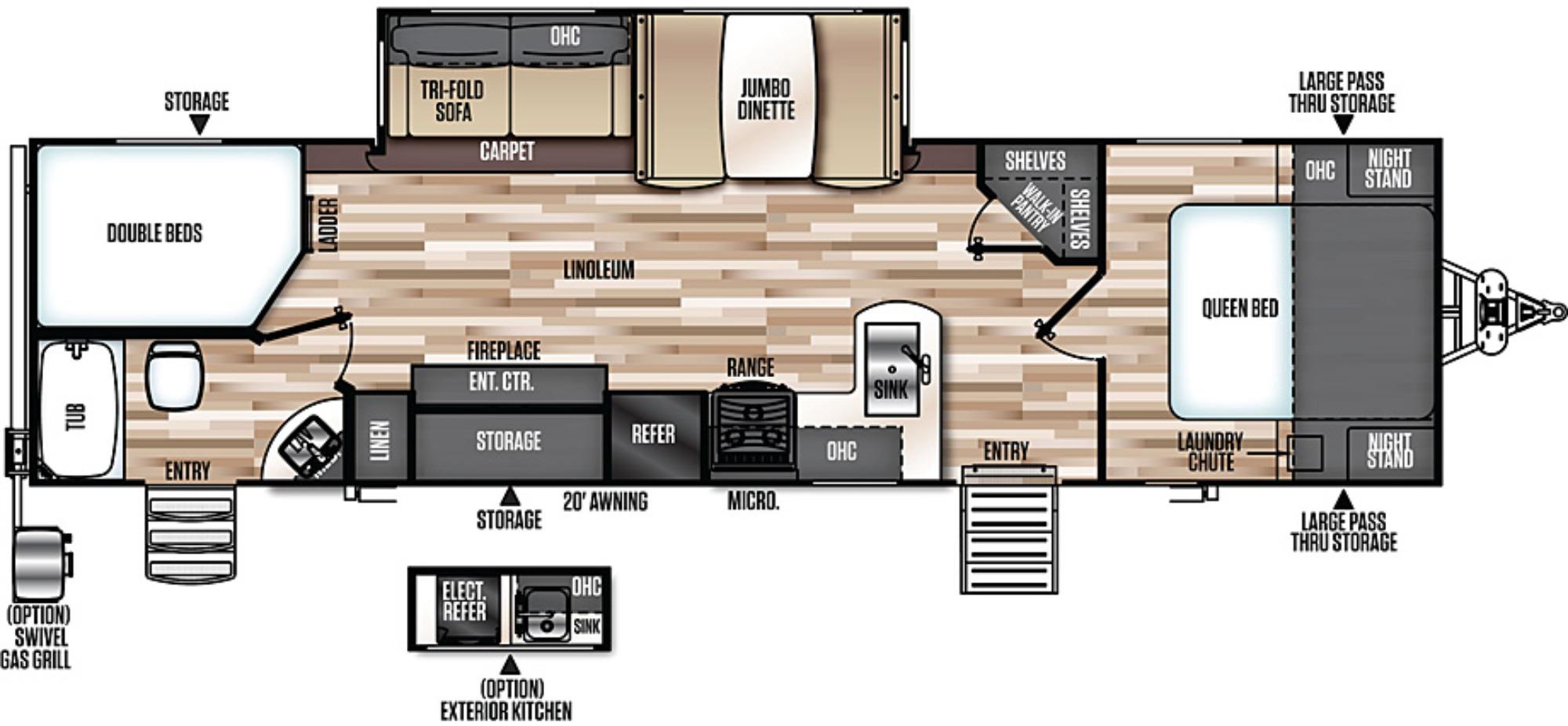 Bedroom : 2018-FOREST RIVER-309BOK