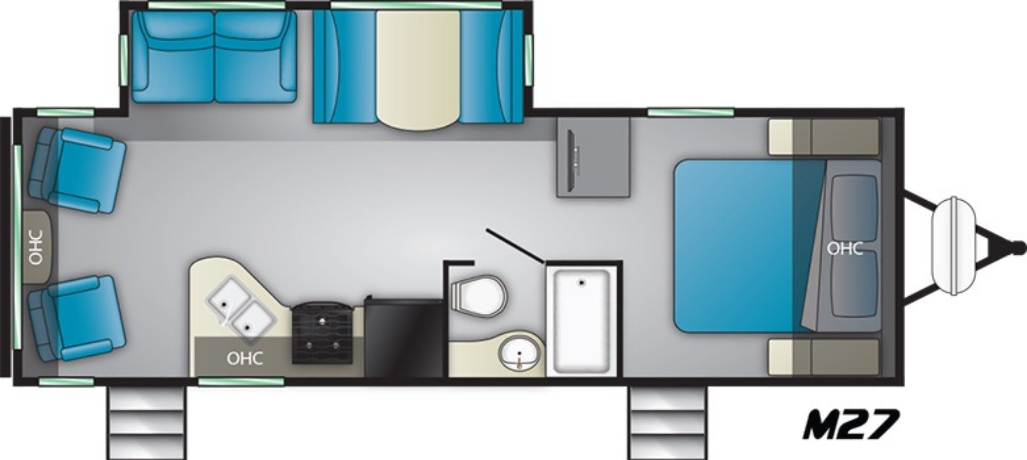 View Floor Plan for 2019 HEARTLAND MALLARD M27