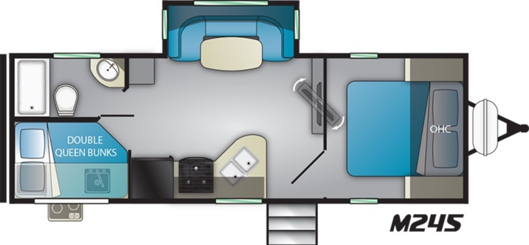 View Floor Plan for 2019 HEARTLAND MALLARD M245