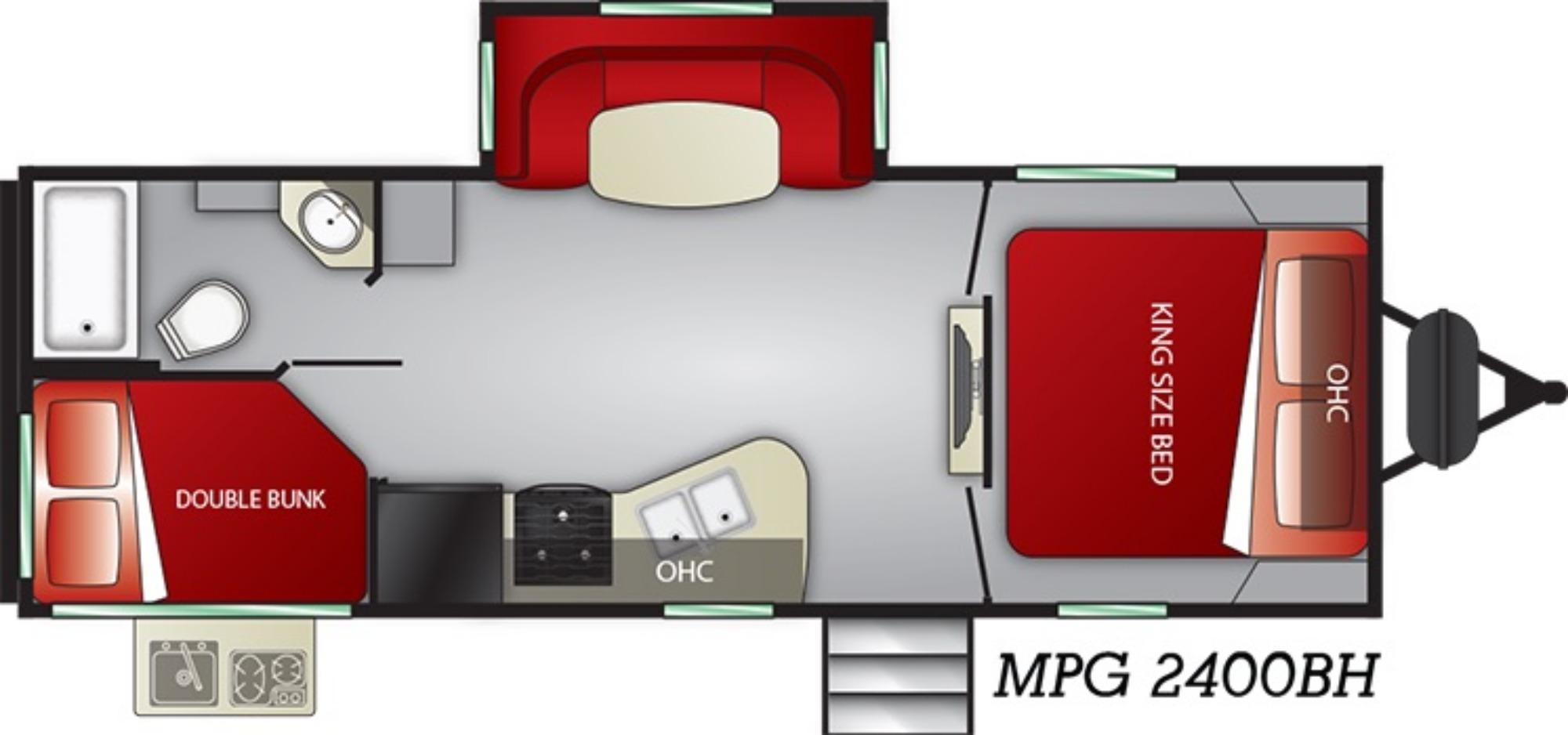 Exterior : 2019-CRUISER RV-2400BH