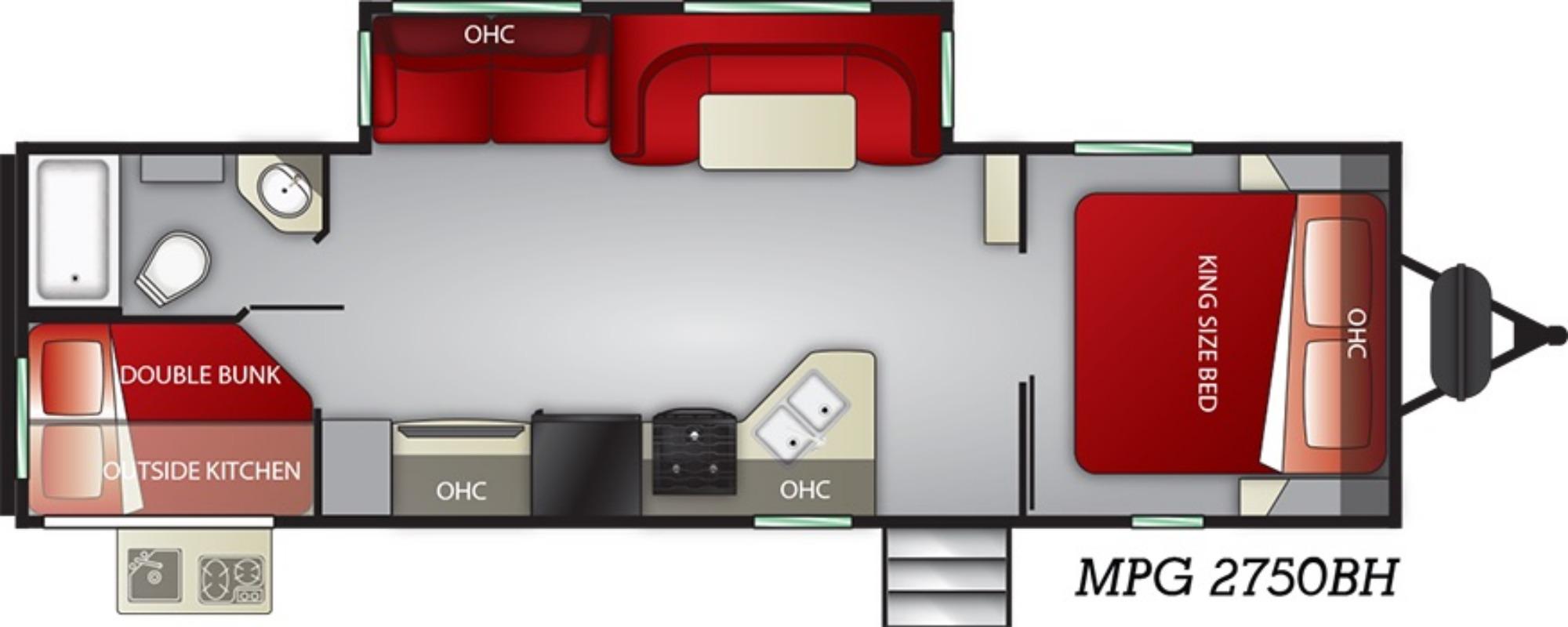 Exterior : 2019-CRUISER RV-2750BH