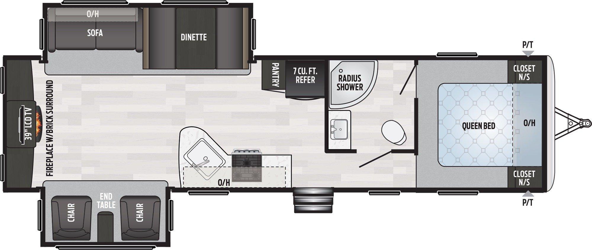 View Floor Plan for 2019 KEYSTONE SPRINGDALE 311RE