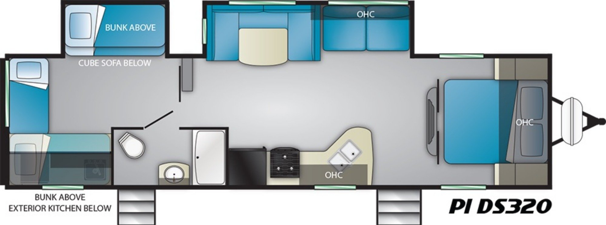 Floor Plan : 2019-HEARTLAND-DS320