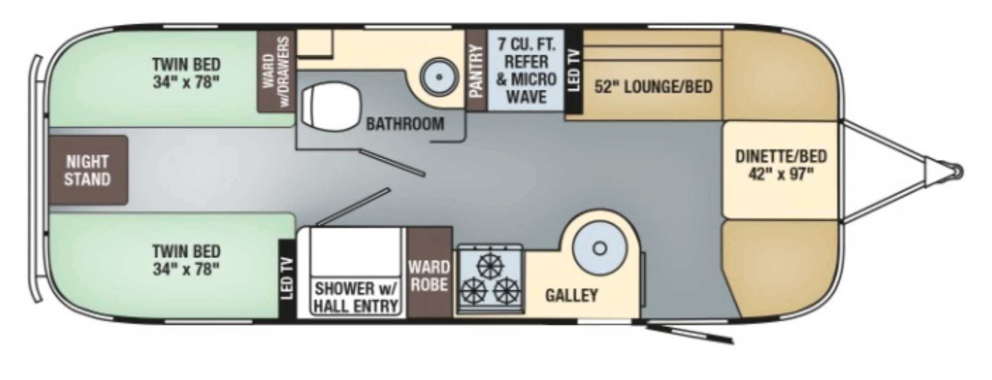 Exterior : 2019-AIRSTREAM-25RB TWIN