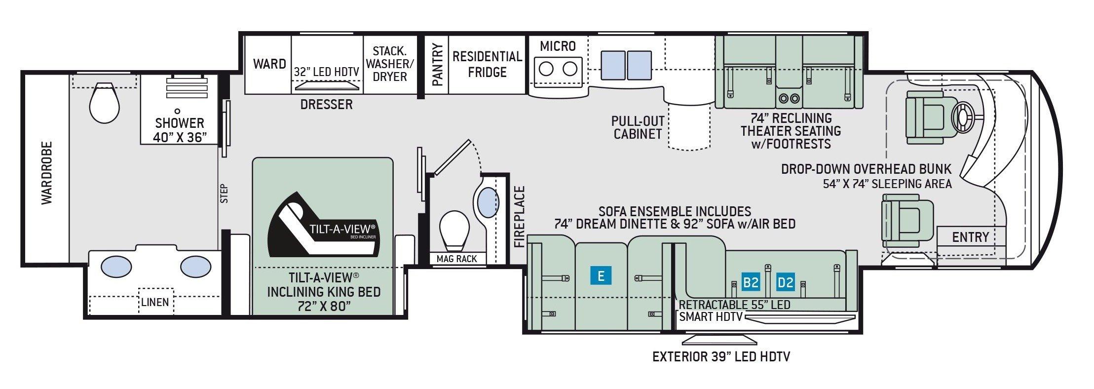 Floor Plan : 2019-THOR-45MX