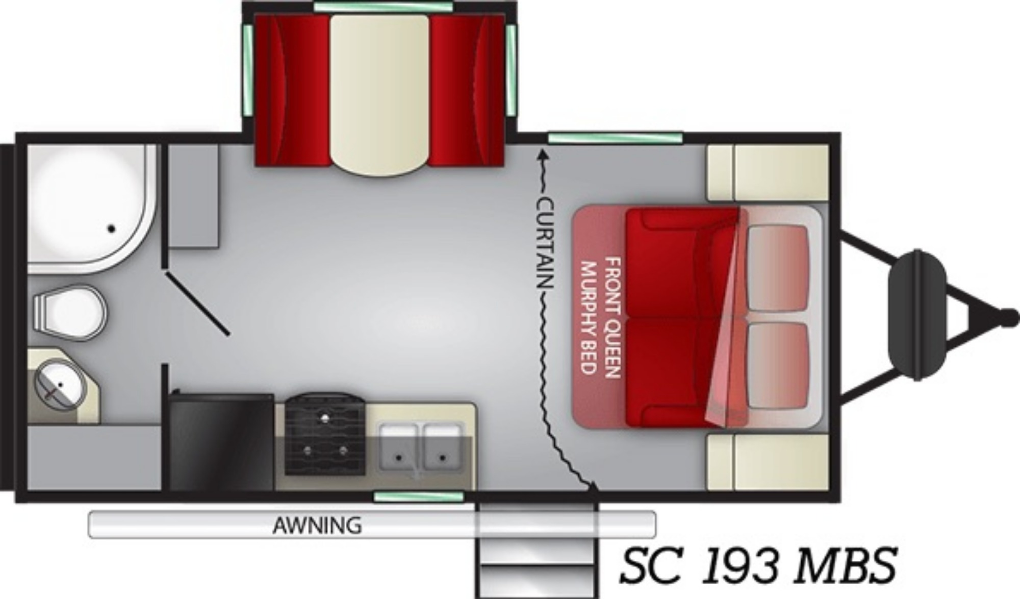 Living Room : 2019-CRUISER RV-ID193MBS