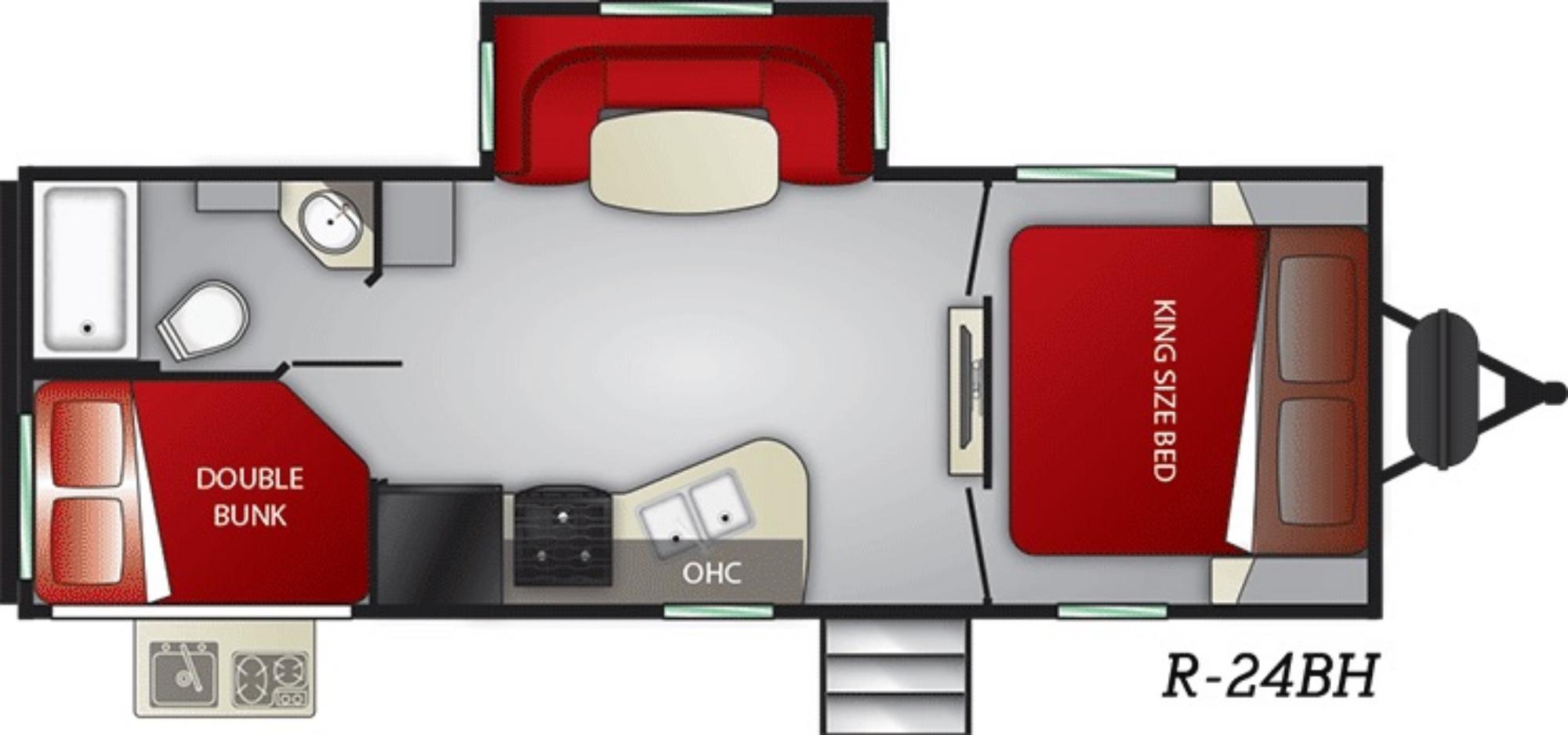 Exterior : 2019-CRUISER RV-24BH