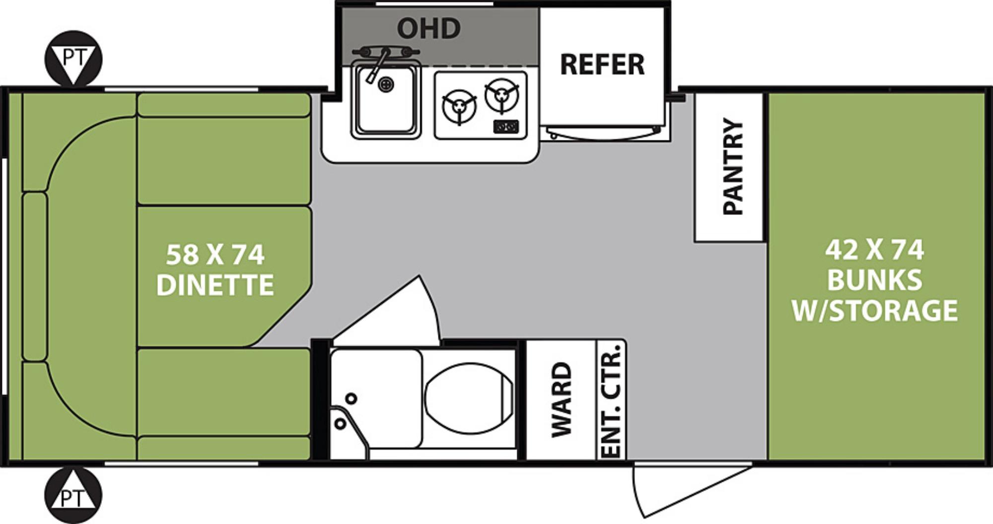 Floor Plan : 2019-FOREST RIVER-176