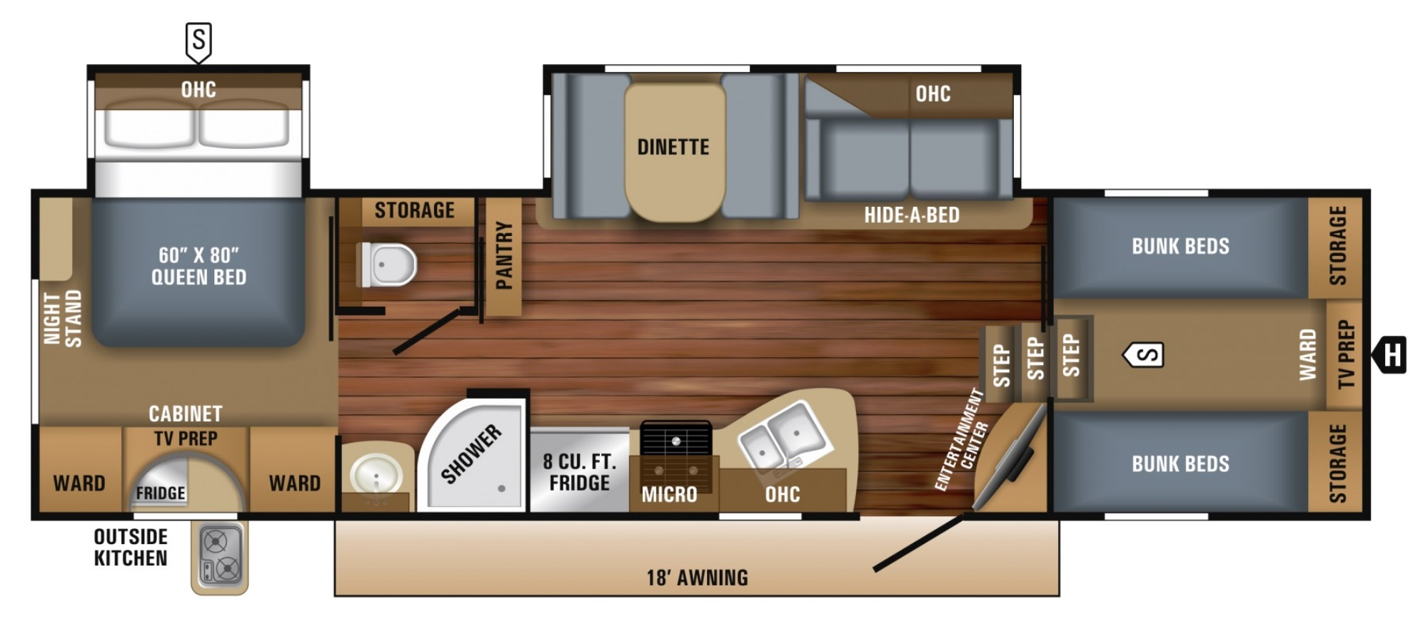 Bedroom : 2019-JAYCO-29.5FBDS