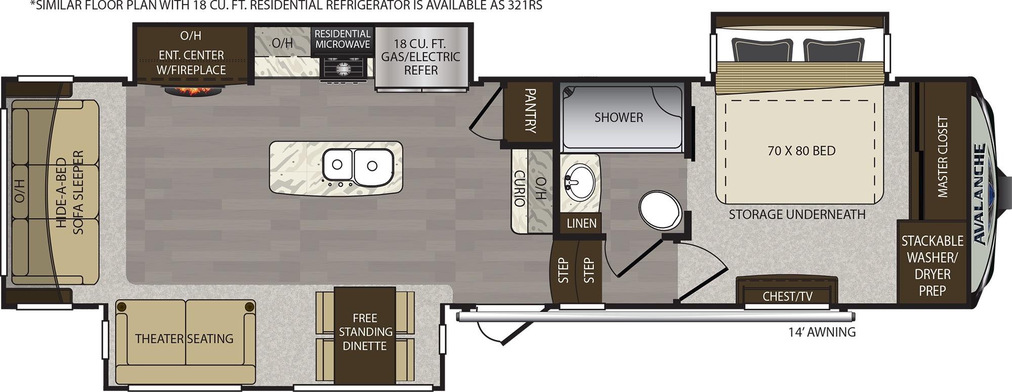 Bathroom : 2019-KEYSTONE-320RS