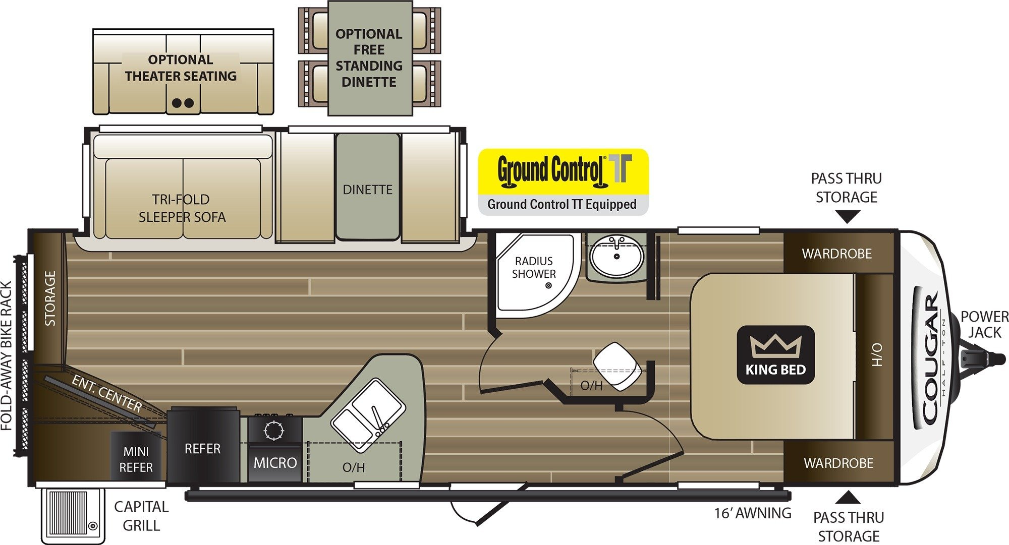 Floor Plan : 2019-KEYSTONE-27RES