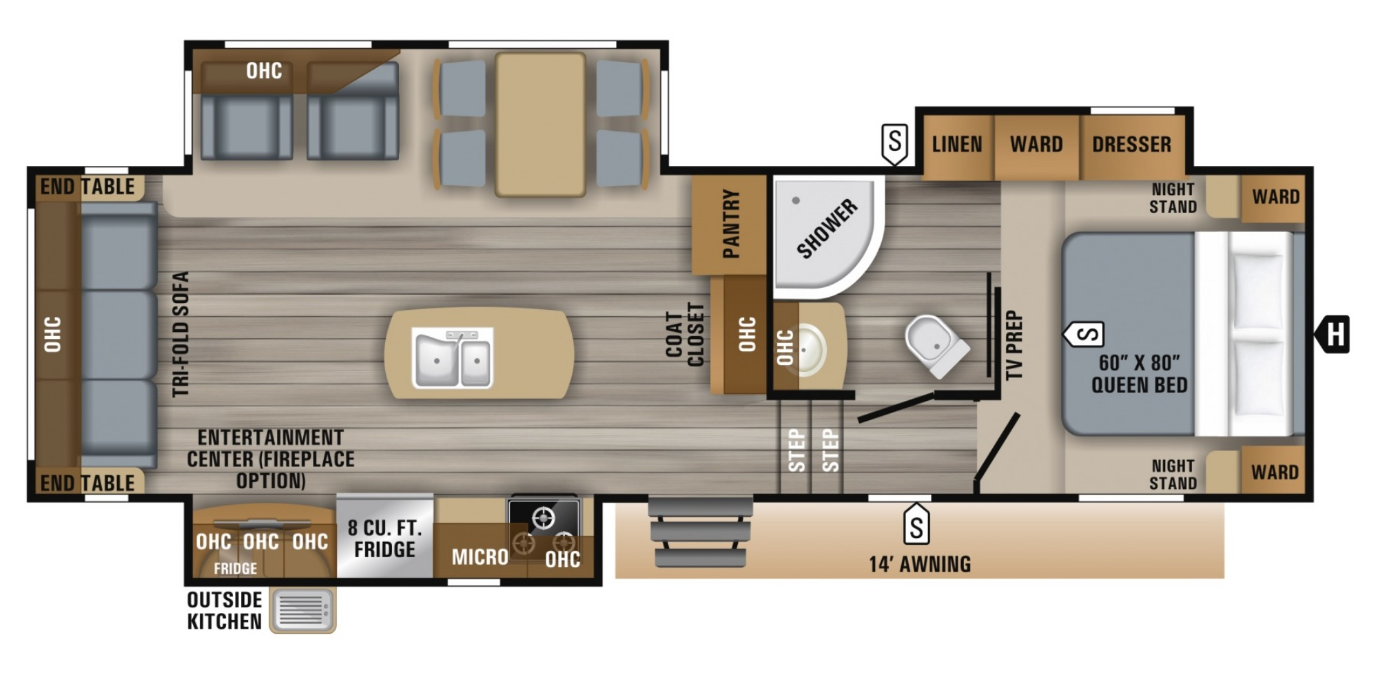 Bedroom : 2019-JAYCO-28.5RSTS