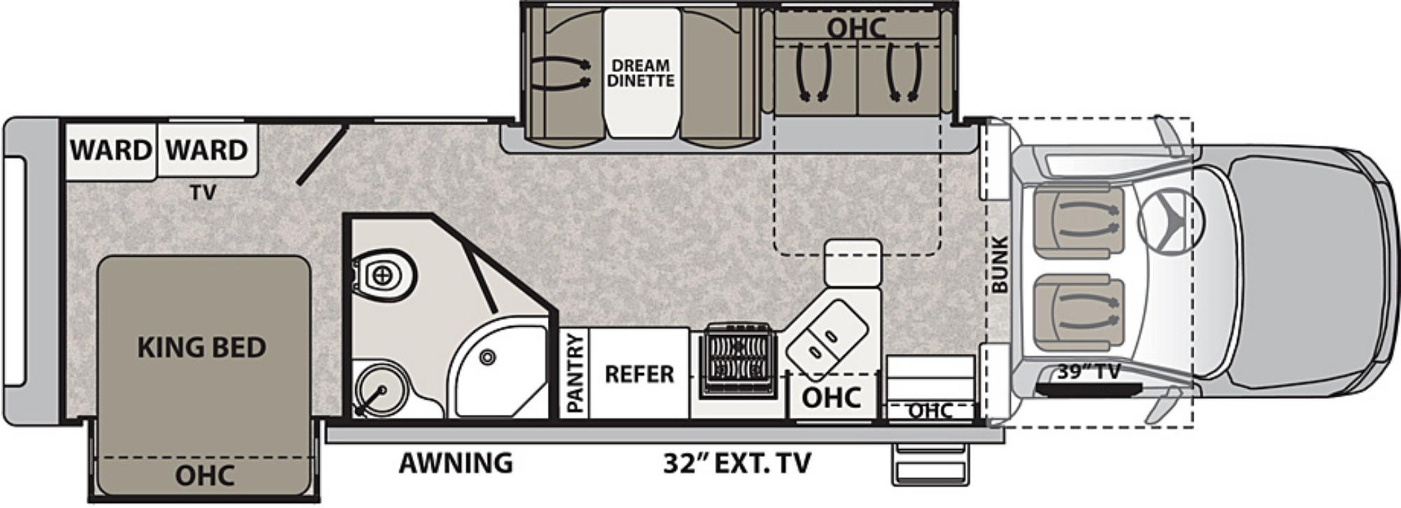 View Floor Plan for 2019 DYNAMAX ISATA 5 36DS