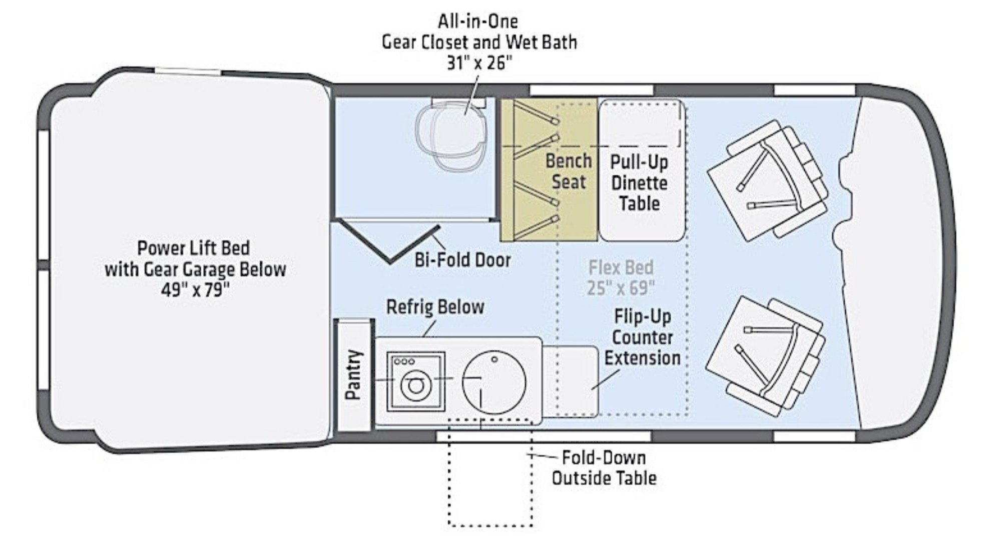 Floor Plan : 2019-WINNEBAGO-44E