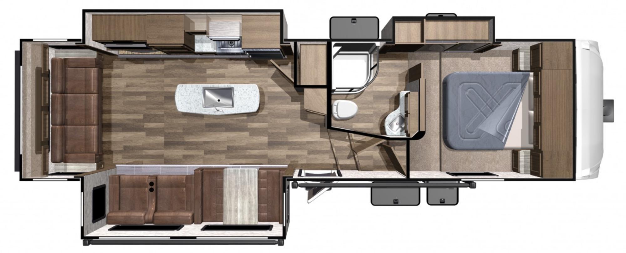 Exterior : 2019-HIGHLAND RIDGE-F291RLS