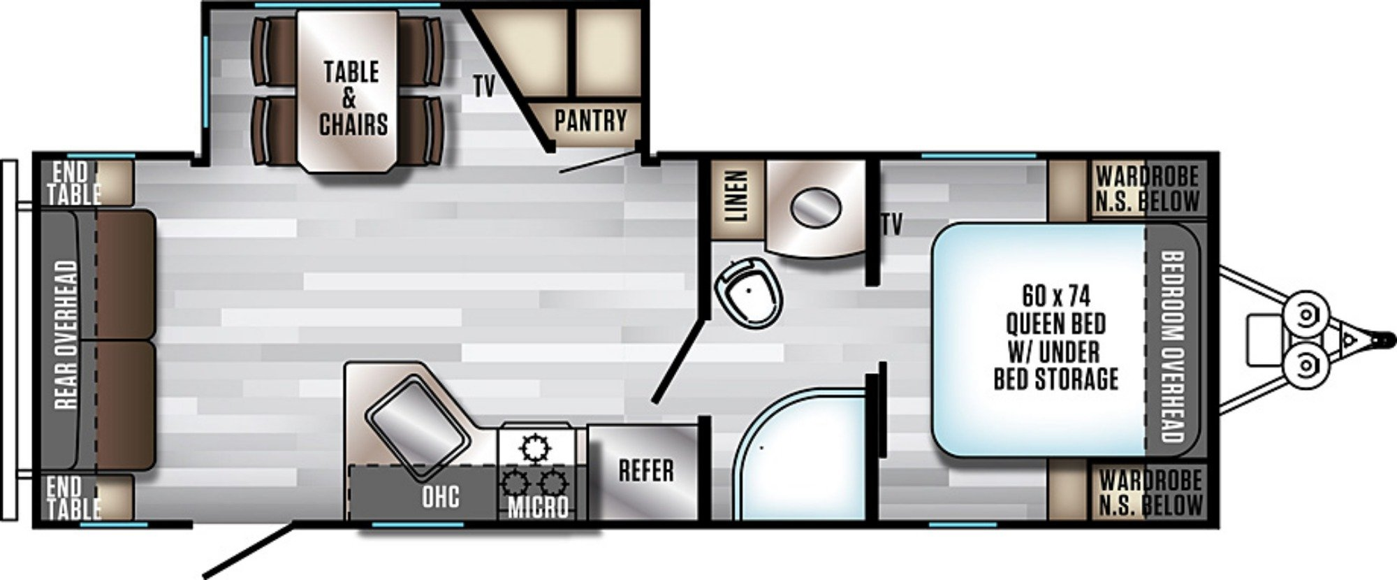 View Floor Plan for 2019 FOREST RIVER ALPHA WOLF 23RD-L