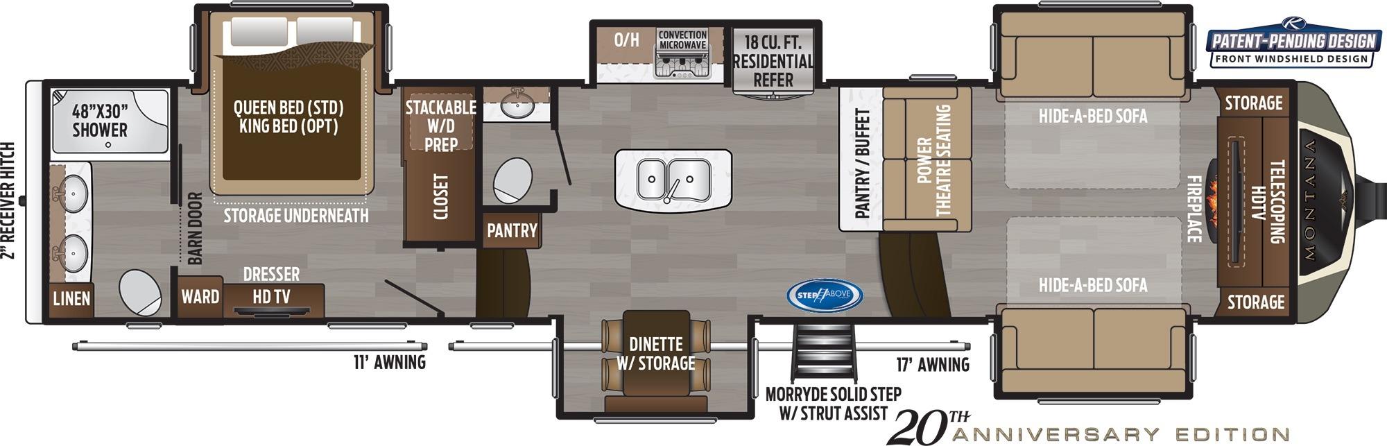 Bedroom : 2019-KEYSTONE-3761FL