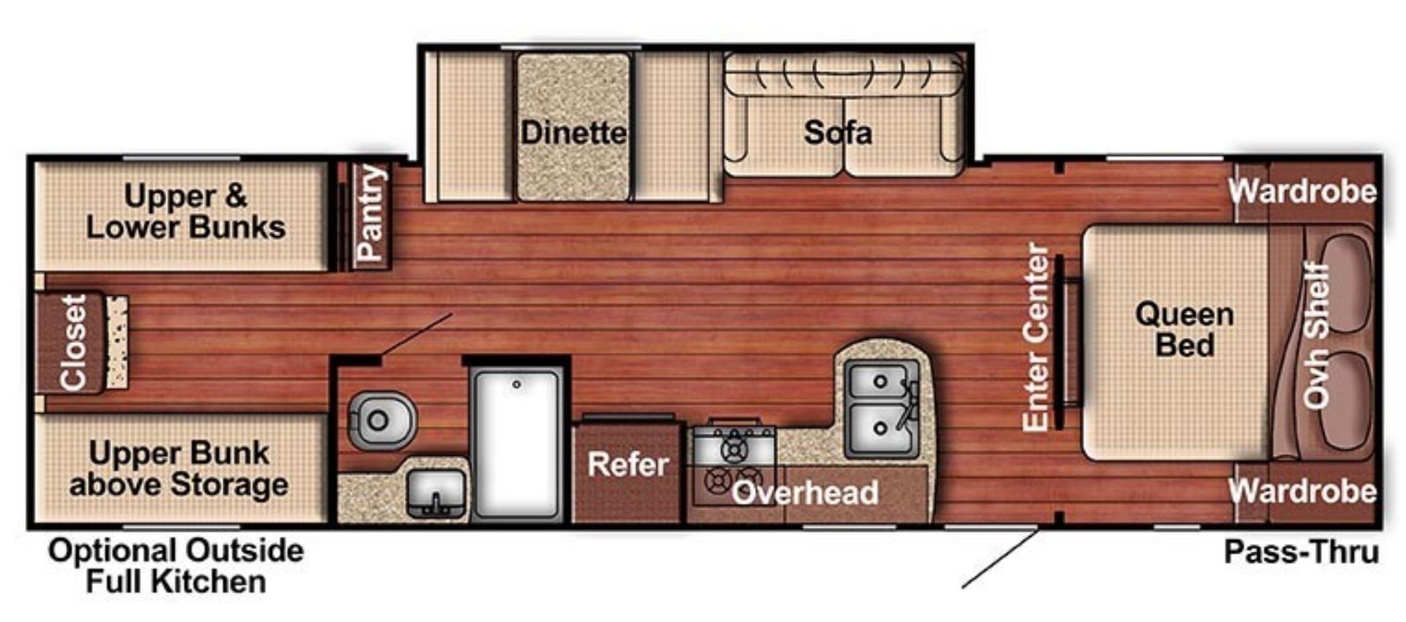 View Floor Plan for 2019 GULF STREAM AMERI-LITE 279BH