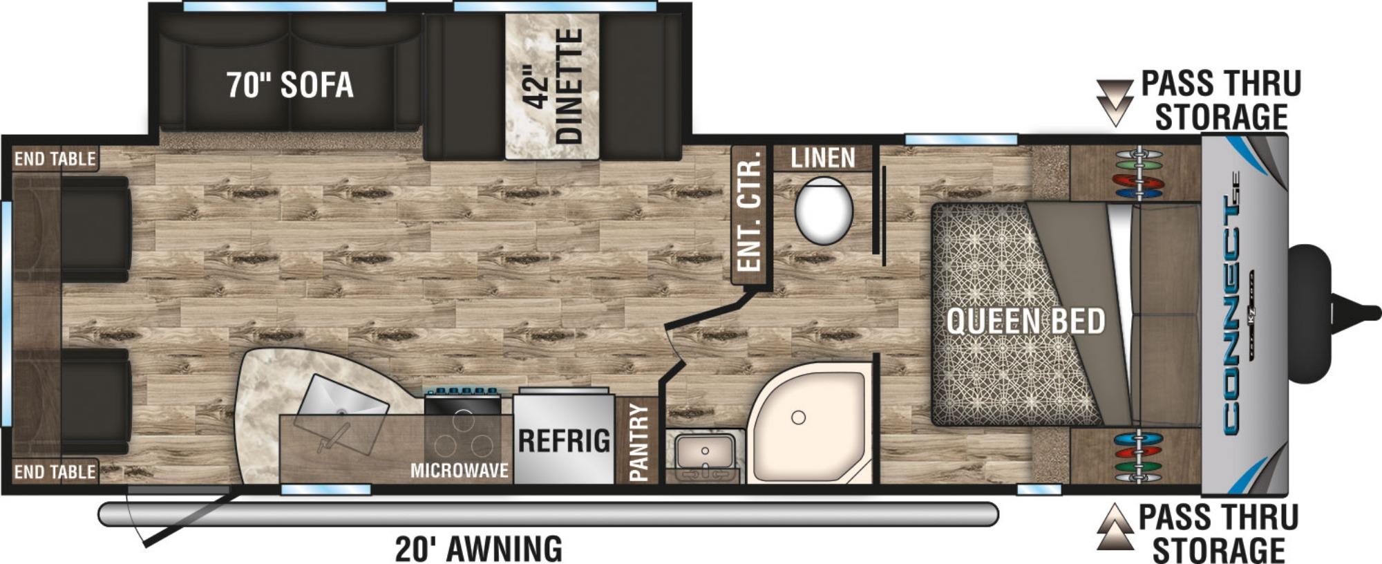 View Floor Plan for 2019 K-Z RV CONNECT SE 271RLSE