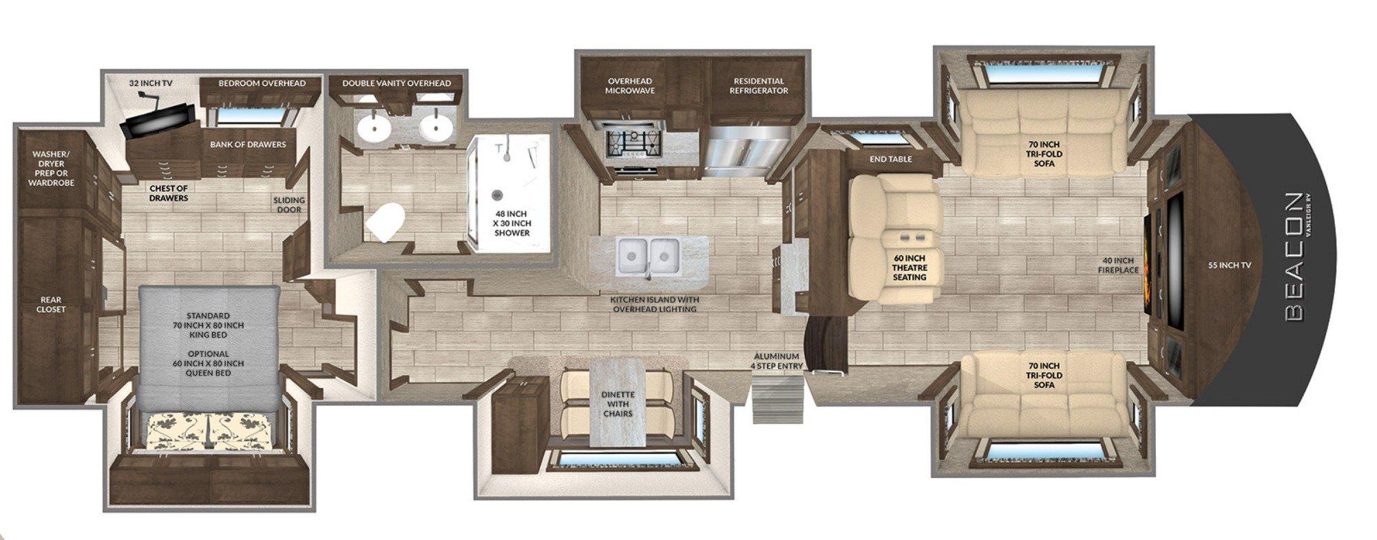 Living Room : 2019-VANLEIGH-40FLB