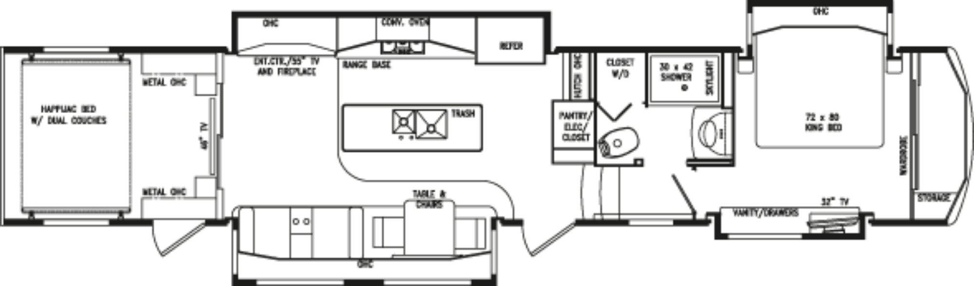 View Floor Plan for 2019 DRV LUXURY SUITES FULL HOUSE JX450
