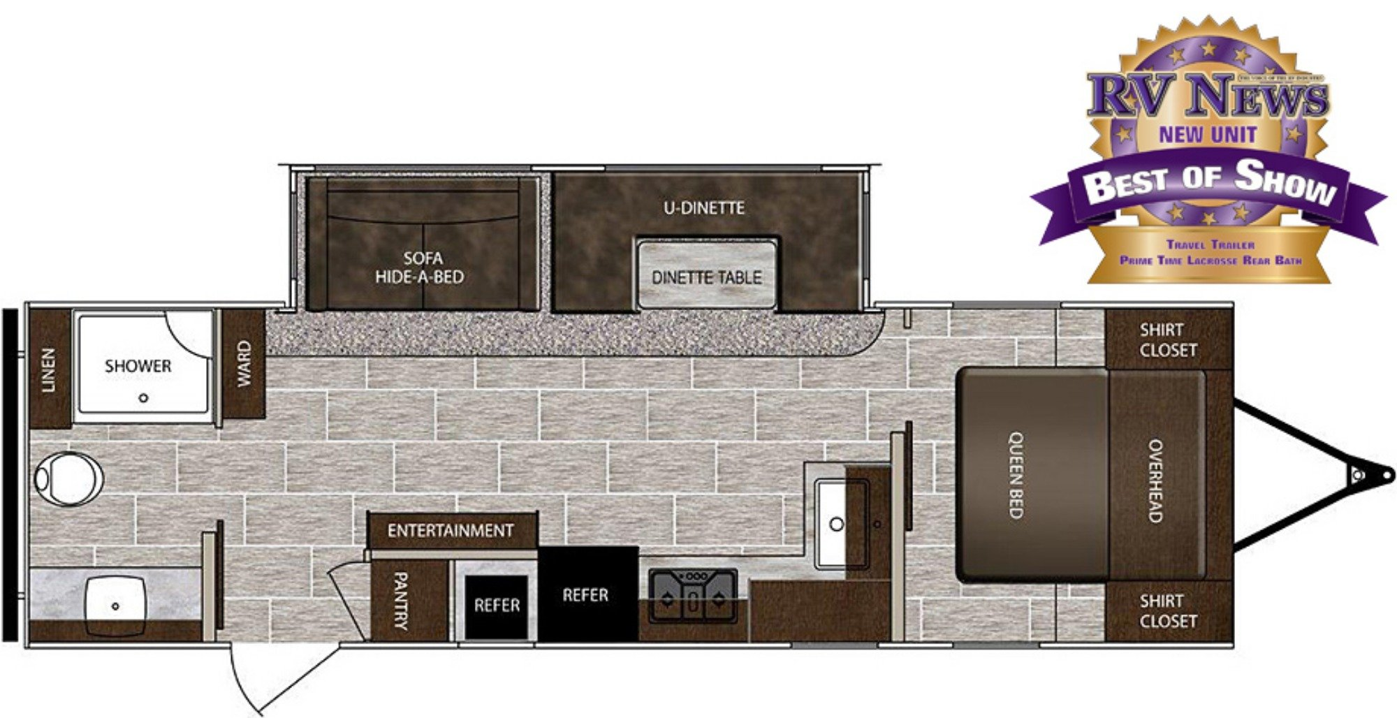 View Floor Plan for 2019 PRIME TIME LACROSSE 2911RB