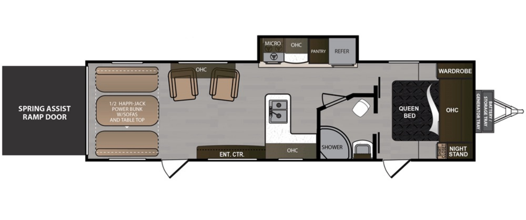 View Floor Plan for 2019 DUTCHMEN RUBICON 301XLT