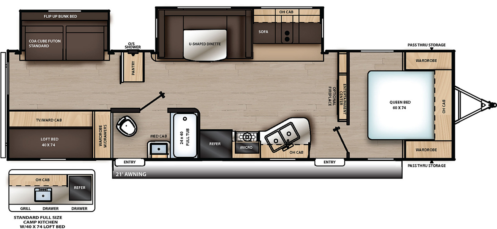 Floor Plan image for '2019 COACHMEN CATALINA LEGACY 323BHDSCK'
