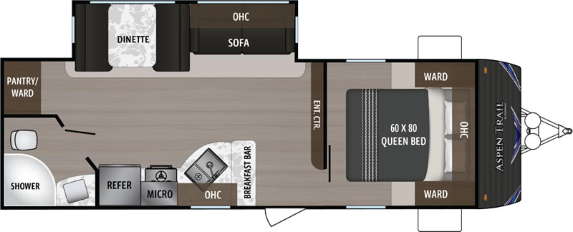 View Floor Plan for 2019 DUTCHMEN ASPEN TRAIL 2480RBS