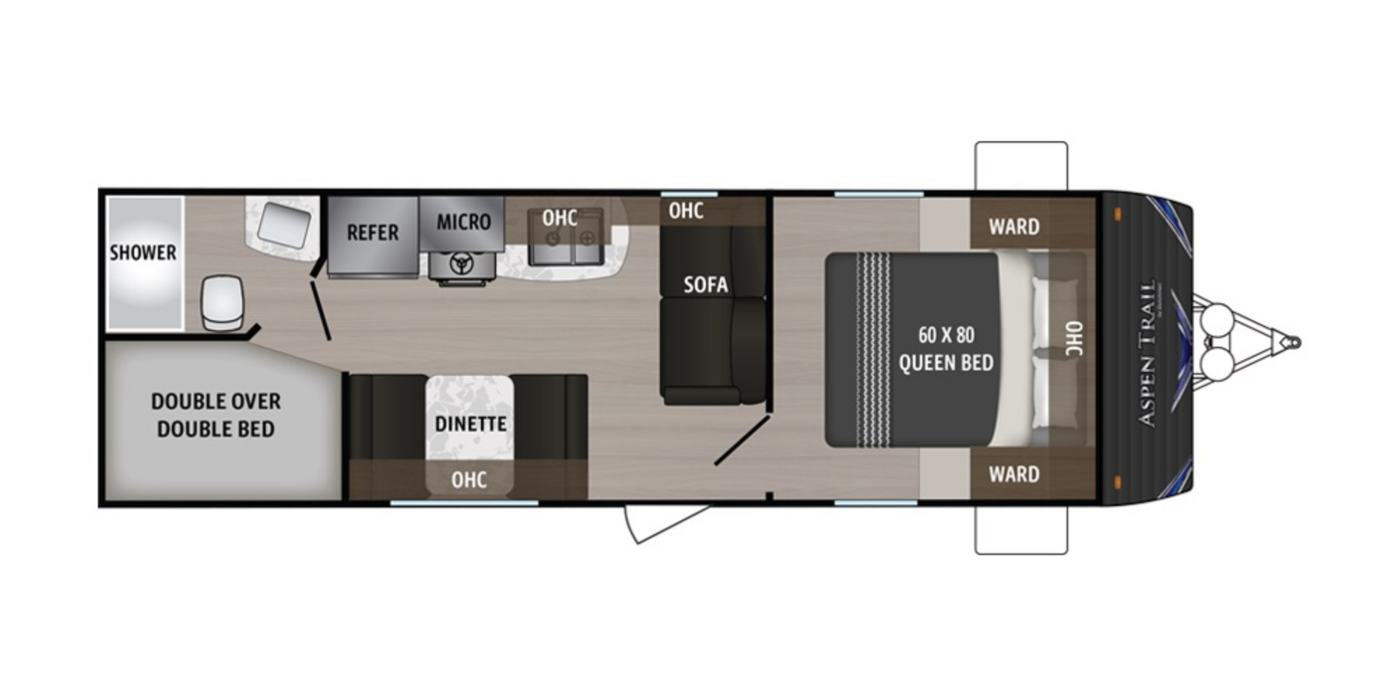 View Floor Plan for 2019 DUTCHMEN ASPEN TRAIL 2710BH