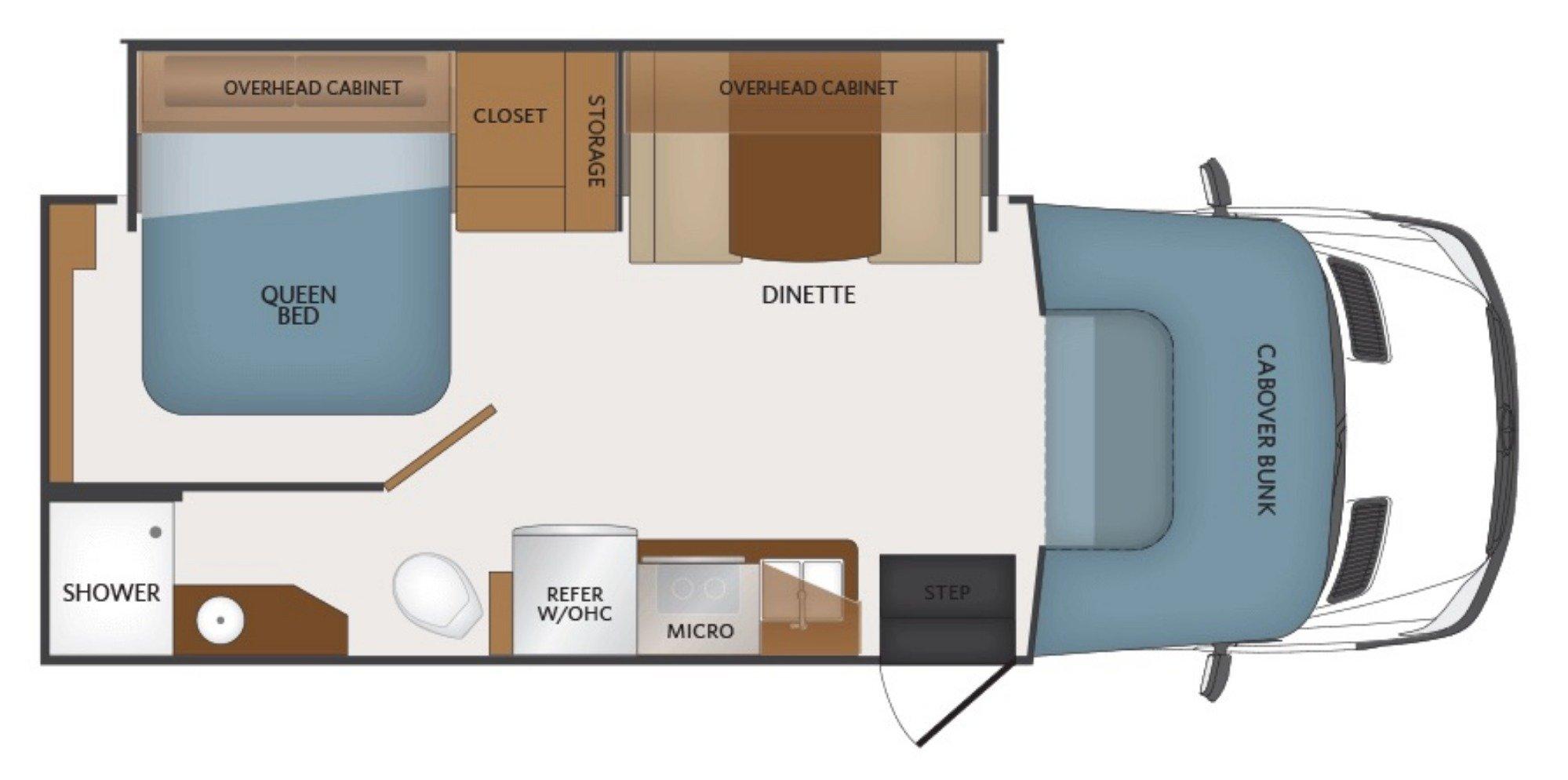 View Floor Plan for 2019 FLEETWOOD PULSE 24B
