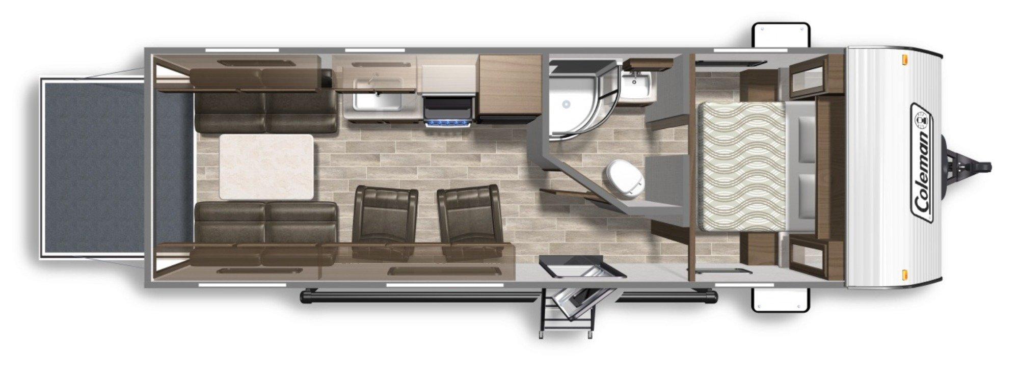 View Floor Plan for 2020 COLEMAN COLEMAN LANTERN 250TQ