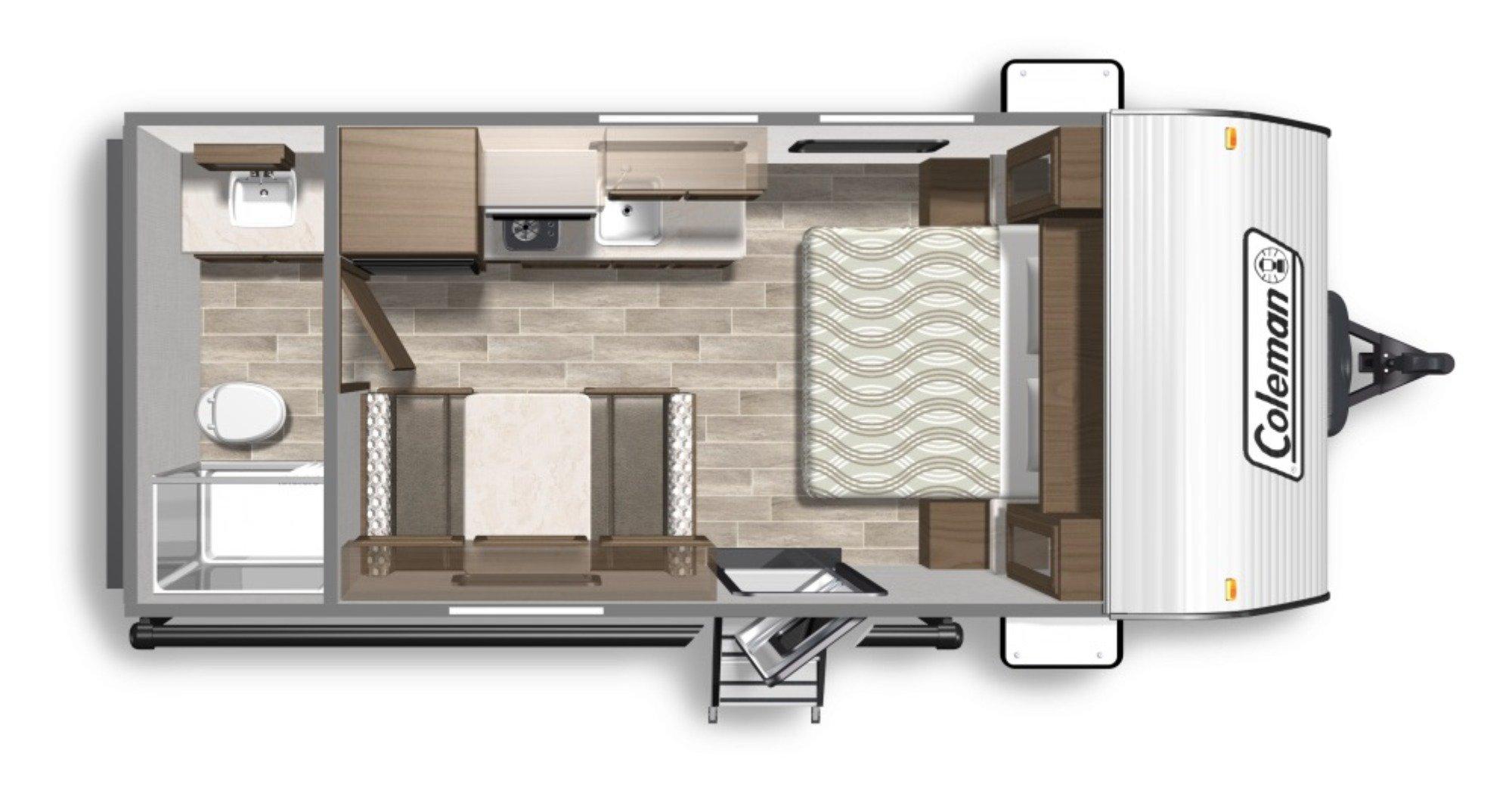 View Floor Plan for 2020 COLEMAN COLEMAN LANTERN LT 18RB