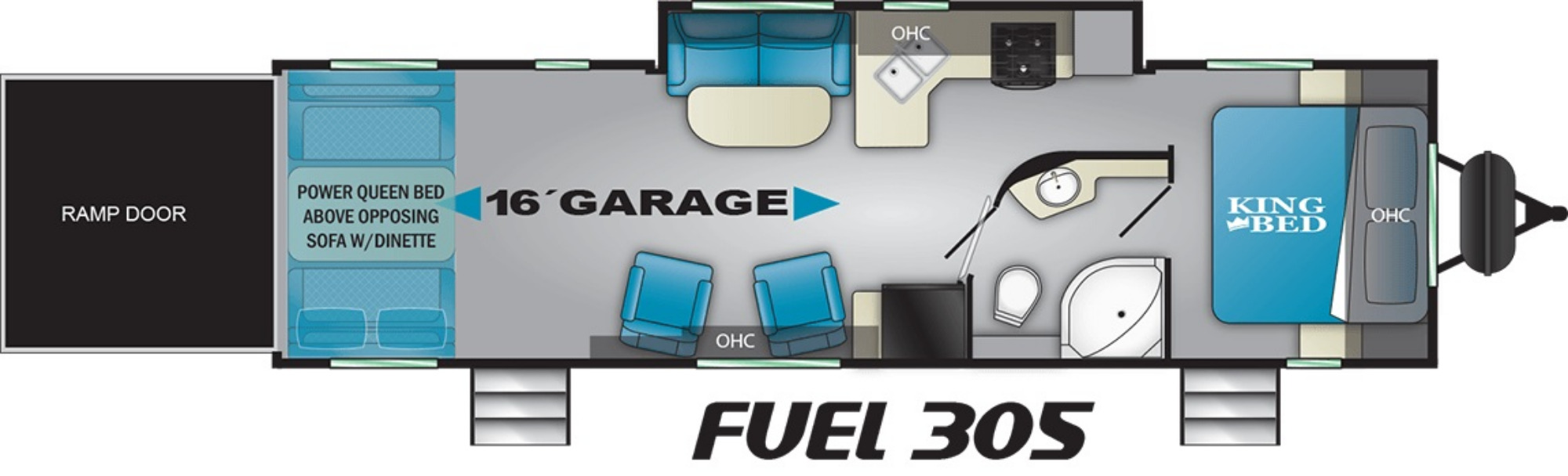 View Floor Plan for 2020 HEARTLAND FUEL 305