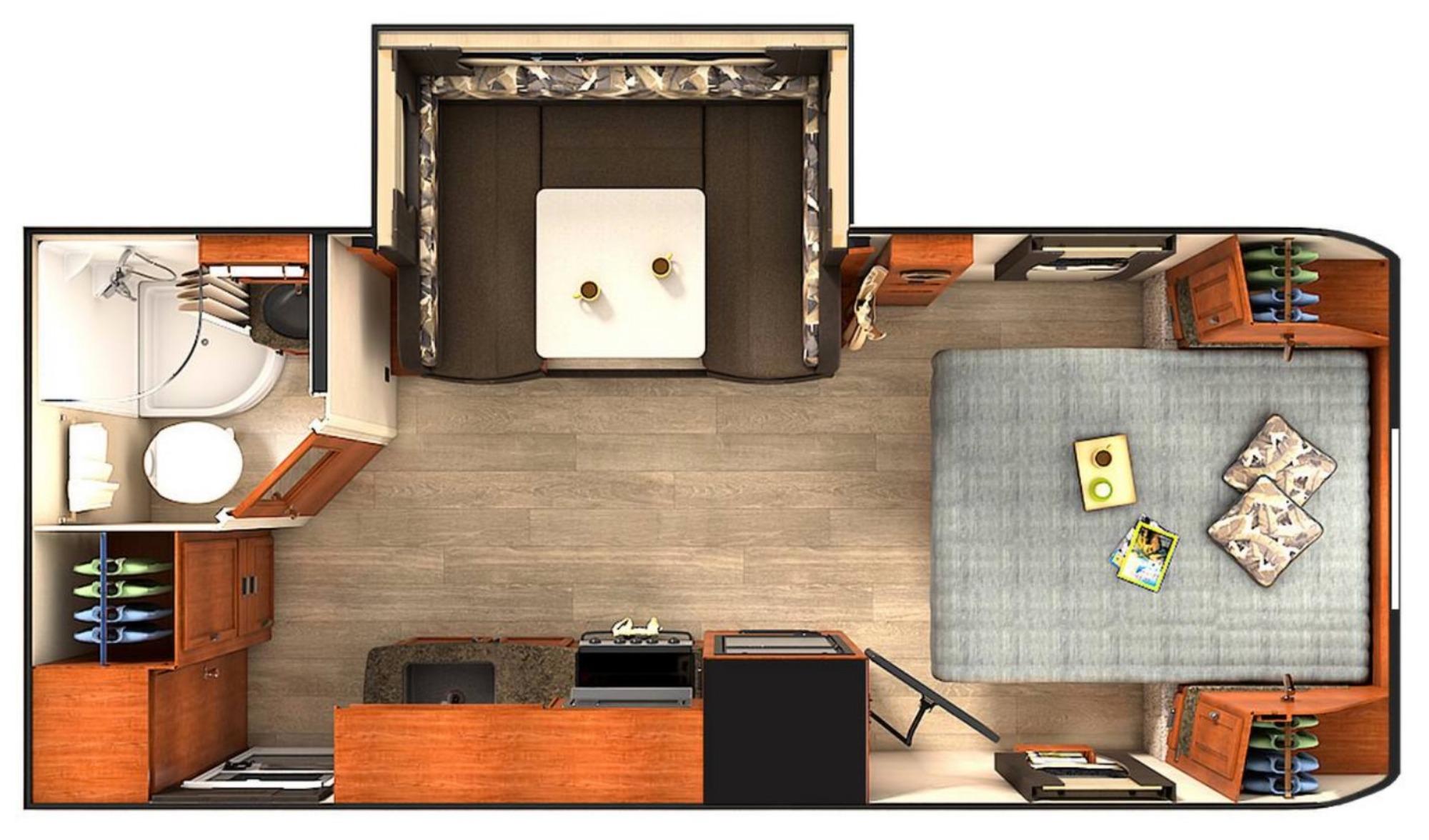 View Floor Plan for 2020 LANCE LANCE 1995