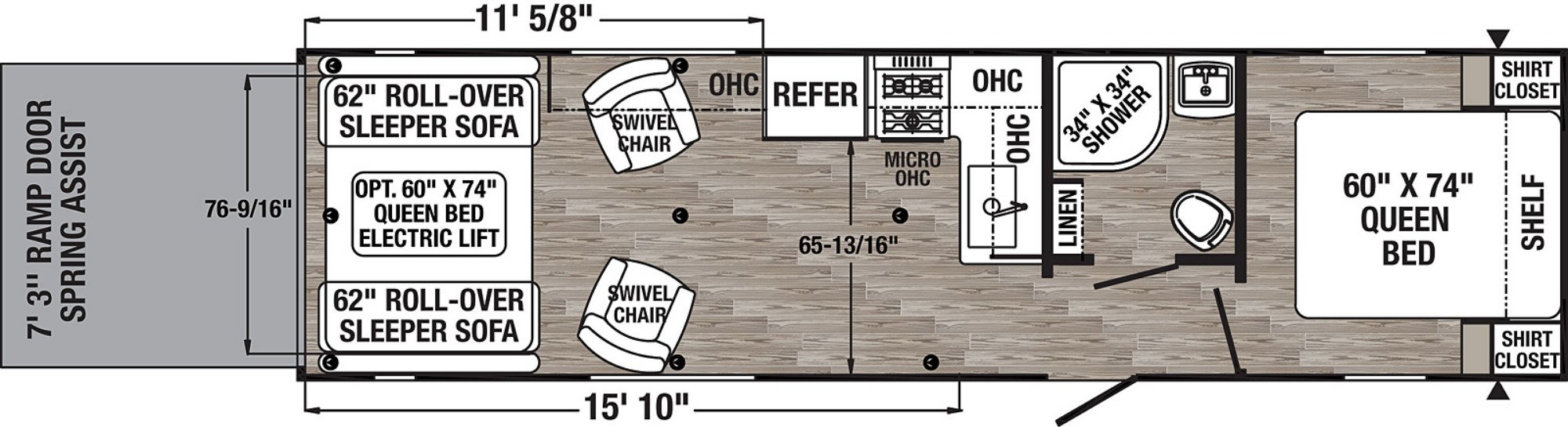 View Floor Plan for 2020 FOREST RIVER PUMA XLE 27QBC