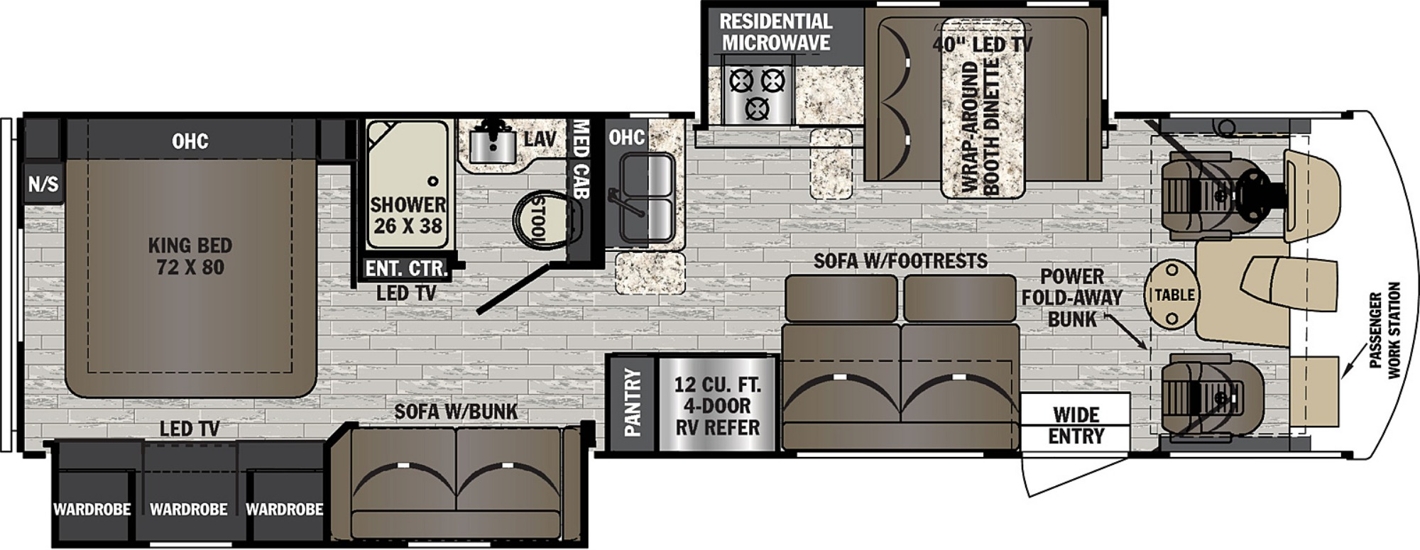 View Floor Plan for 2020 FOREST RIVER FR3 32DS